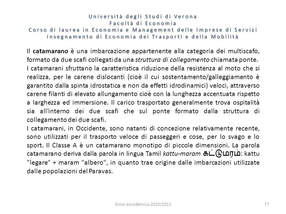 77 Università degli Studi di Verona Facoltà di Economia Corso di laurea in Economia e Management delle Imprese di Servizi Insegnamento di Economia dei