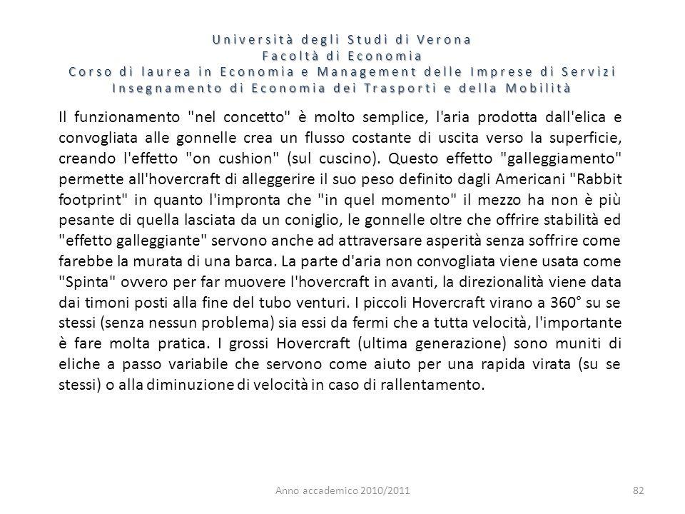 82 Università degli Studi di Verona Facoltà di Economia Corso di laurea in Economia e Management delle Imprese di Servizi Insegnamento di Economia dei