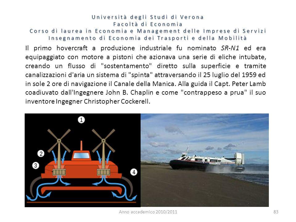 83 Università degli Studi di Verona Facoltà di Economia Corso di laurea in Economia e Management delle Imprese di Servizi Insegnamento di Economia dei