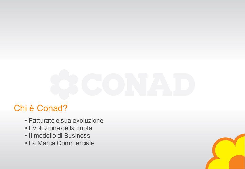 Verona, 16 / 04 / 2007 DIREZIONE MARCA COMMERCIALE - CONAD - 2007® Chi è Conad? Fatturato e sua evoluzione Evoluzione della quota Il modello di Busine