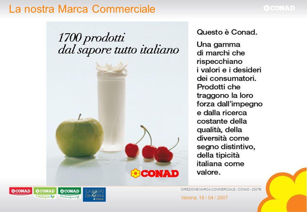 Verona, 16 / 04 / 2007 DIREZIONE MARCA COMMERCIALE - CONAD - 2007® La nostra Marca Commerciale