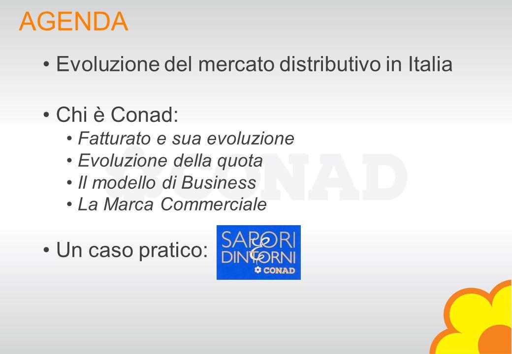 Verona, 16 / 04 / 2007 DIREZIONE MARCA COMMERCIALE - CONAD - 2007® AGENDA Evoluzione del mercato distributivo in Italia Chi è Conad: Fatturato e sua e