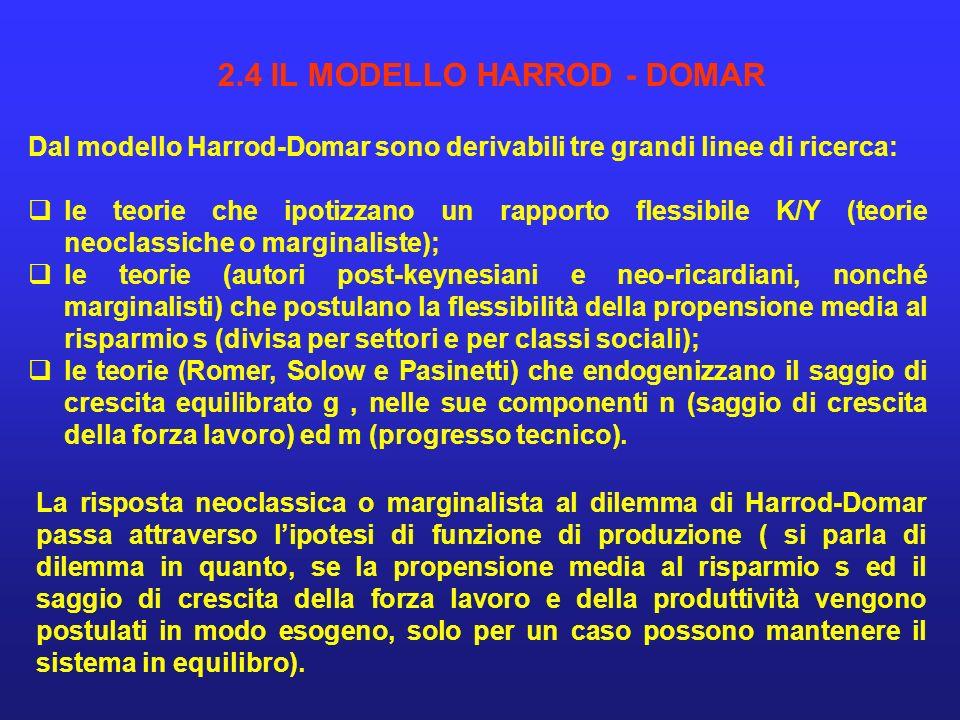 Un modo per interpretare linstabilità del modello di Harrod è fornito da Sen.