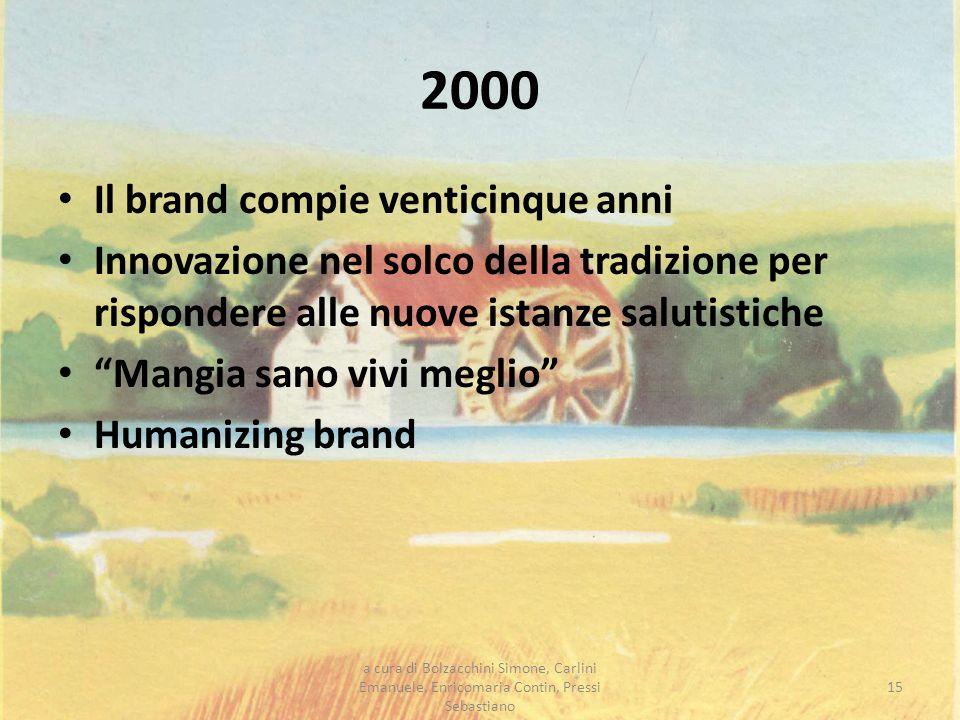 2000 Il brand compie venticinque anni Innovazione nel solco della tradizione per rispondere alle nuove istanze salutistiche Mangia sano vivi meglio Hu