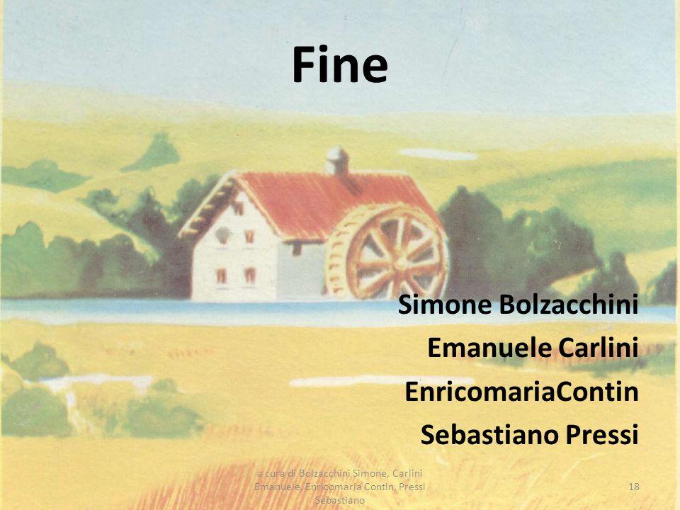 Fine Simone Bolzacchini Emanuele Carlini EnricomariaContin Sebastiano Pressi 18 a cura di Bolzacchini Simone, Carlini Emanuele, Enricomaria Contin, Pr