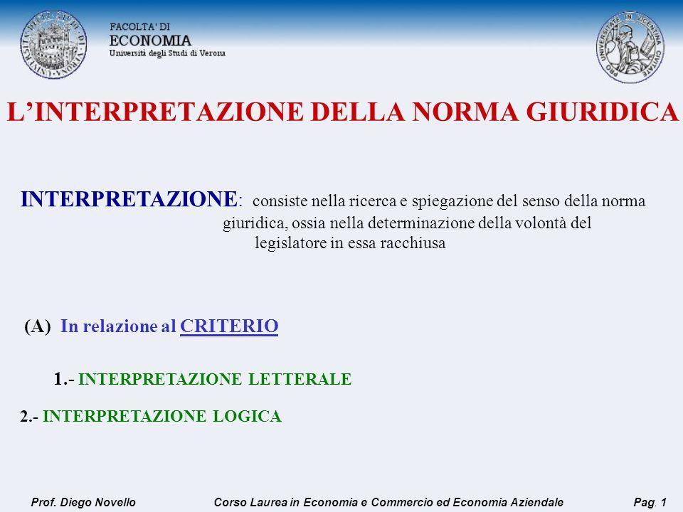 LINTERPRETAZIONE DELLA NORMA GIURIDICA INTERPRETAZIONE : consiste nella ricerca e spiegazione del senso della norma giuridica, ossia nella determinazi