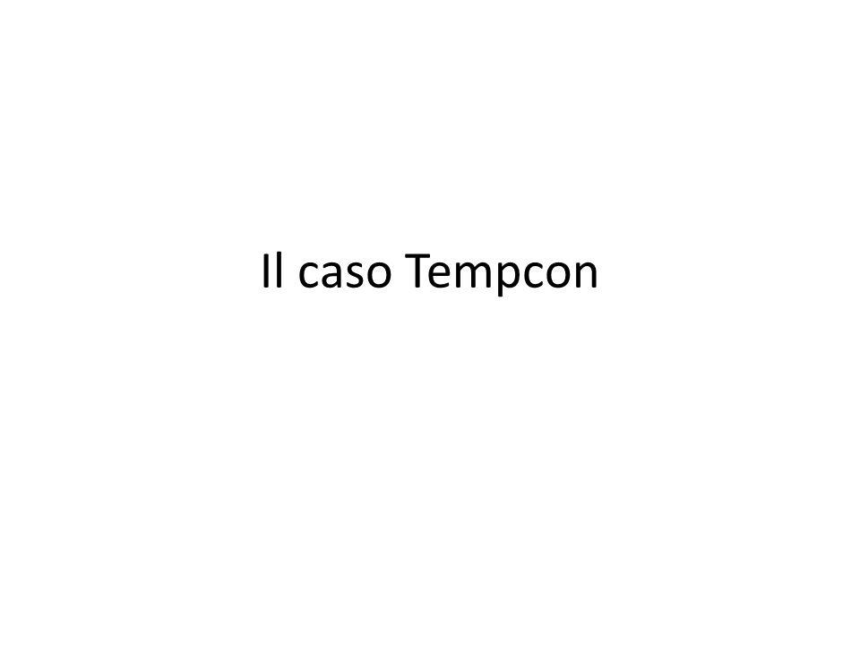 Il caso Tempcon