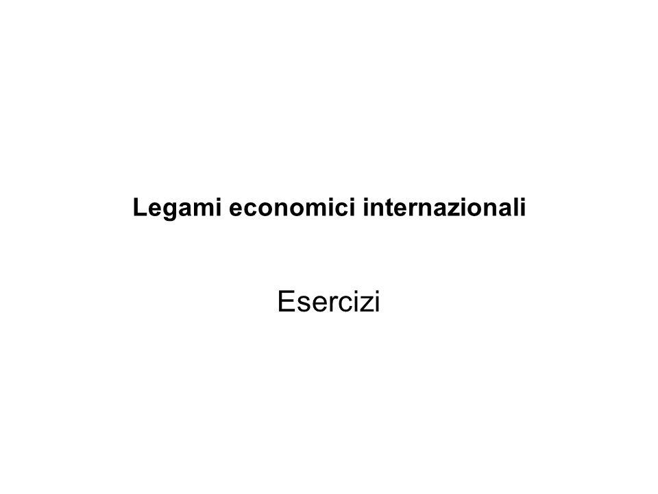 Legami economici internazionali Esercizi