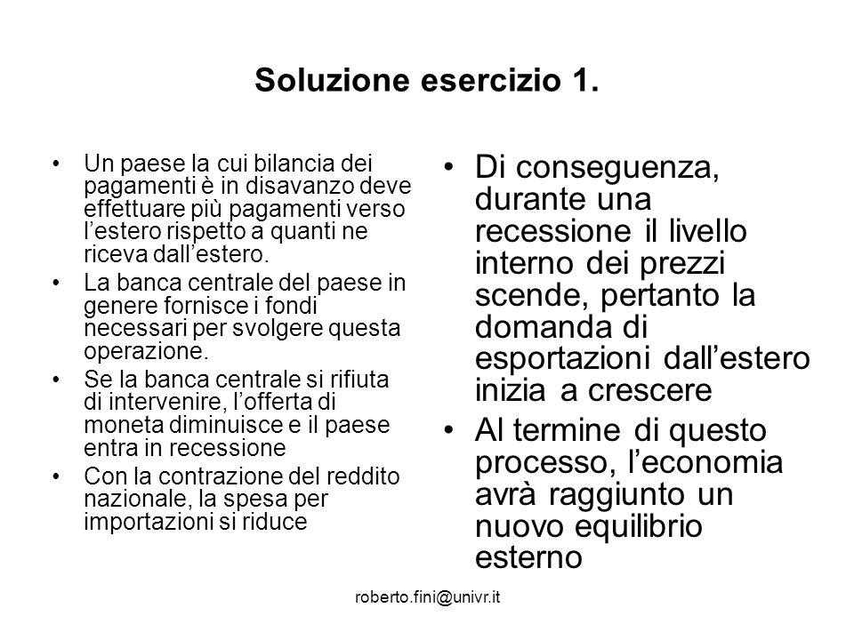 roberto.fini@univr.it Esercizio n.