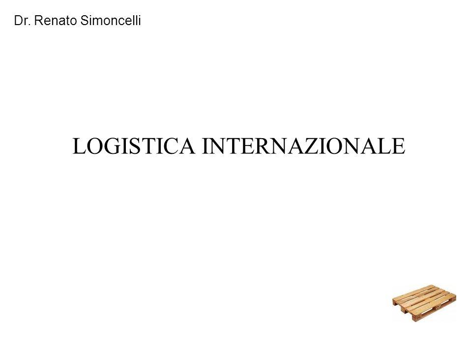 Dr. Renato Simoncelli LOGISTICA INTERNAZIONALE