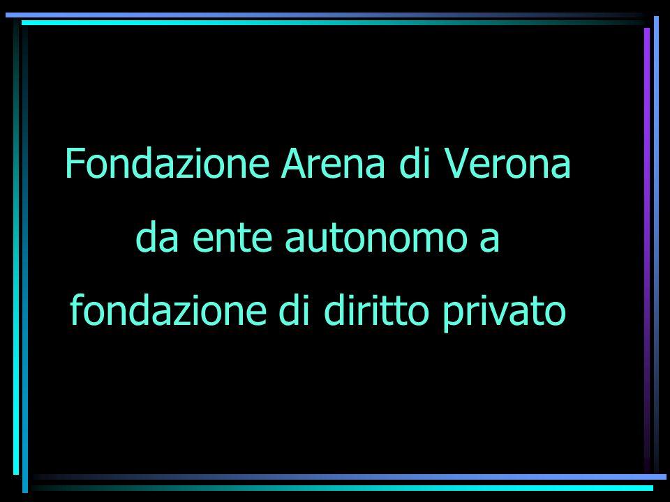 Fondazione Arena di Verona da ente autonomo a fondazione di diritto privato