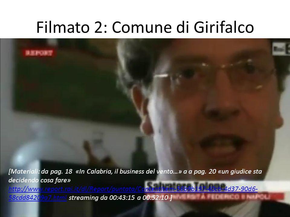 Filmato 2: Comune di Girifalco [Materiali: da pag.
