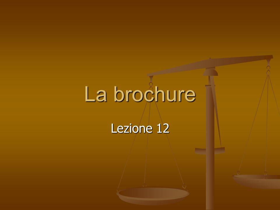 La brochure Lezione 12