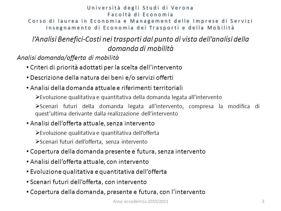 Anno accademico 2010/201114 A.