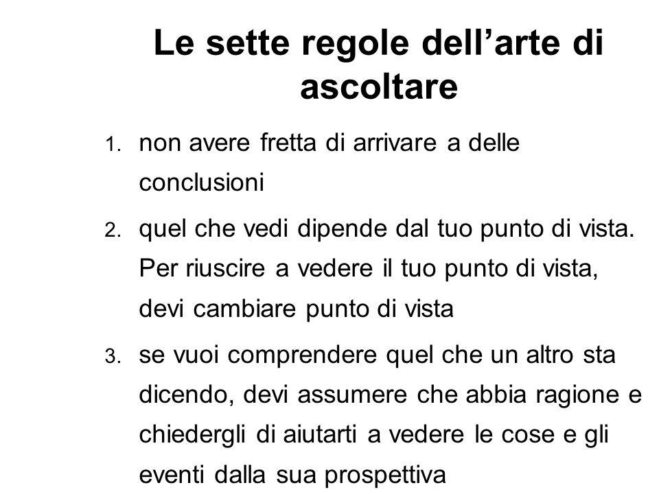 Le sette regole dellarte di ascoltare 4.