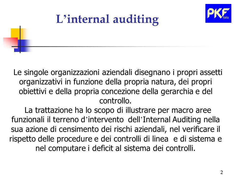 2 Le singole organizzazioni aziendali disegnano i propri assetti organizzativi in funzione della propria natura, dei propri obiettivi e della propria