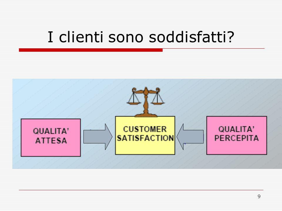9 I clienti sono soddisfatti?