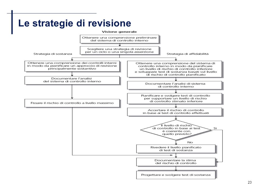 23 Le strategie di revisione