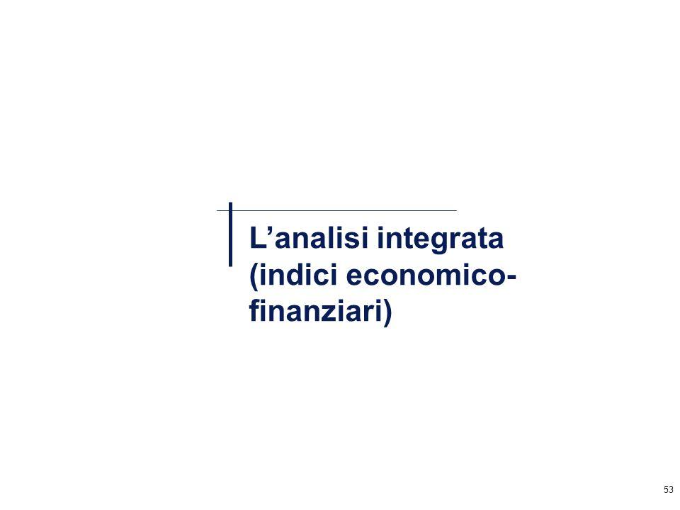 53 Lanalisi integrata (indici economico- finanziari)