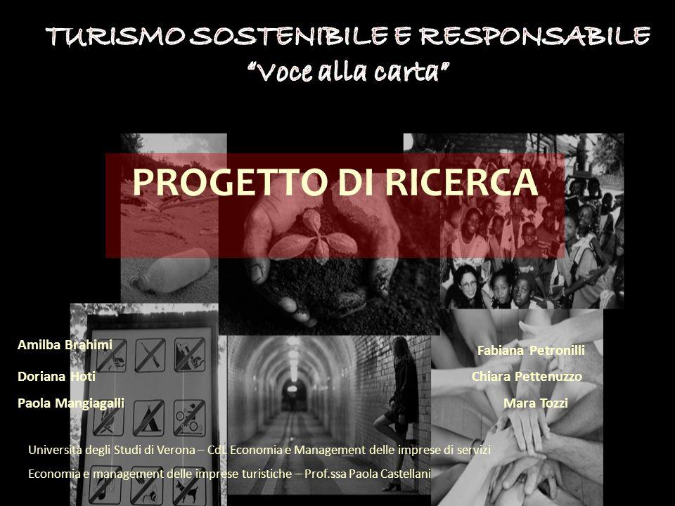 Università degli Studi di Verona – CdL Economia e Management delle imprese di servizi Economia e management delle imprese turistiche – Prof.ssa Paola