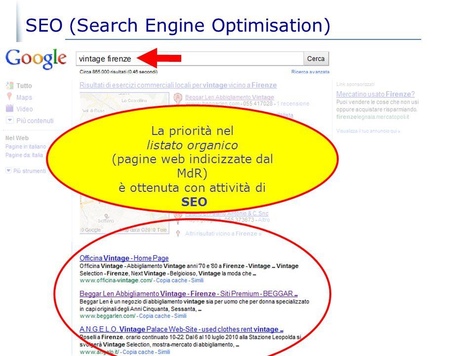 03/02/2014 22 oltre 200 fattori determinano il posizionamento dei siti nei MdR relativi a: PERTINENZAPOPOLARITA Il posizionamento sui Motori di Ricerc