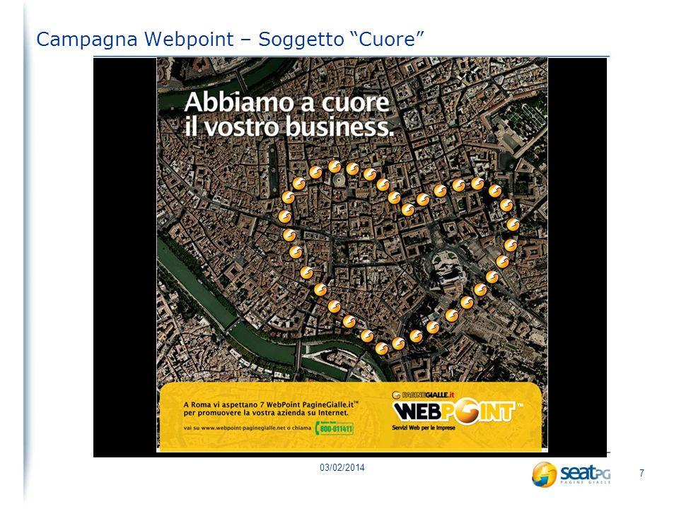 03/02/2014 7 Campagna Webpoint – Soggetto Cuore