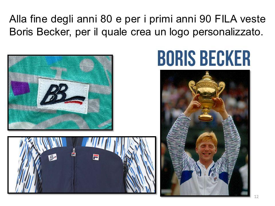 Alla fine degli anni 80 e per i primi anni 90 FILA veste Boris Becker, per il quale crea un logo personalizzato. 12