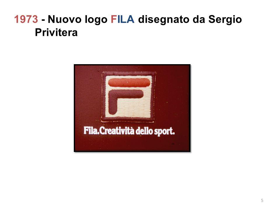 1973 - Nuovo logo FILA disegnato da Sergio Privitera 5