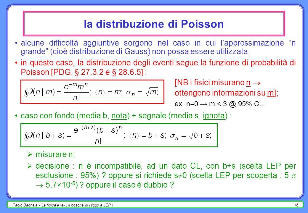 Paolo Bagnaia - La fisica e+e- : il bosone di Higgs a LEP I15 osservazione di un effetto nuovo [nel caso semplice, non cè problema : se la ricerca di