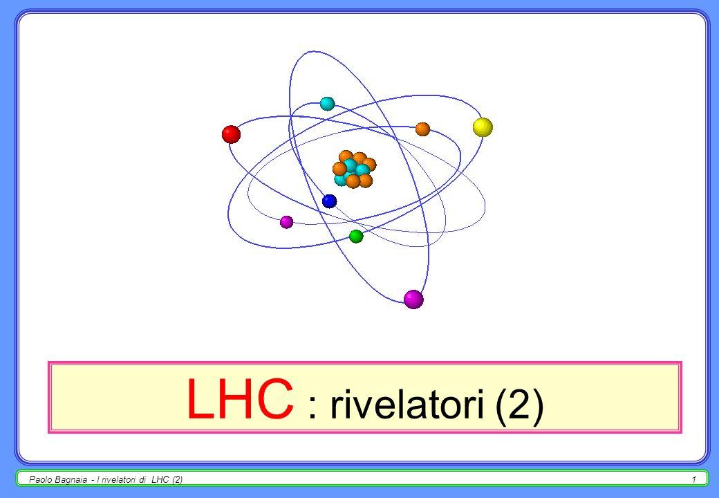 Paolo Bagnaia - I rivelatori di LHC (2)21 trigger - eventi minimum bias se per una qualche categoria di eventi la statistica è eccessiva rispetto alla presa dati, si può operare in due modi : a)alzare la soglia di trigger; b)prescalare il trigger di un fattore n, i.e.