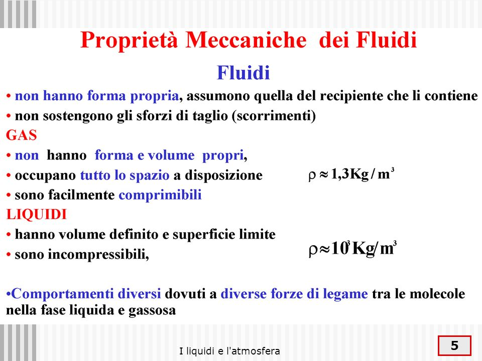 I liquidi e l atmosfera 16 Termodinamica: introduzione
