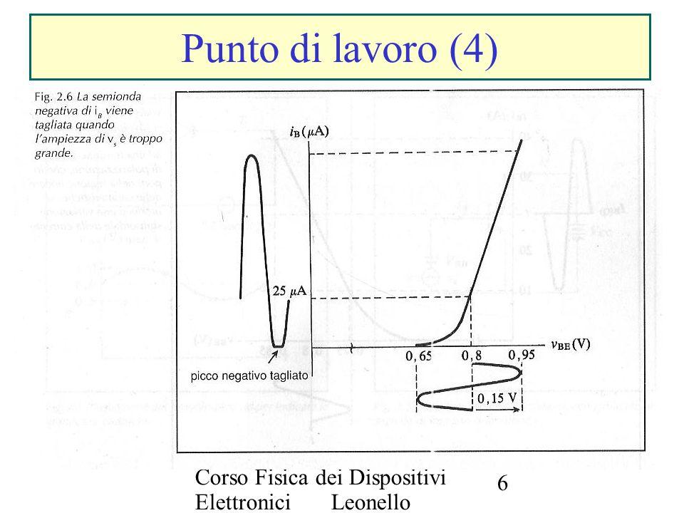 Corso Fisica dei Dispositivi Elettronici Leonello Servoli 6 Punto di lavoro (4)