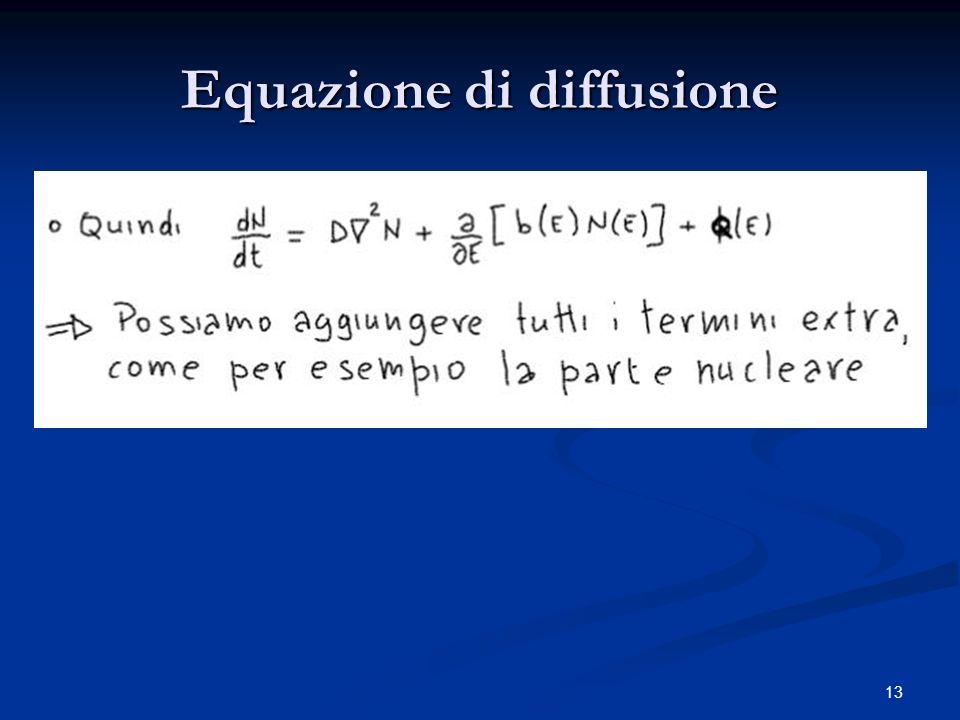 13 Equazione di diffusione