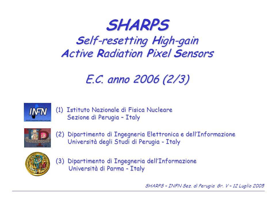 SHARPS – INFN Sez.di Perugia Gr. V – 12 Luglio 2005 2/9 Messa a punto del banco ottico laser.