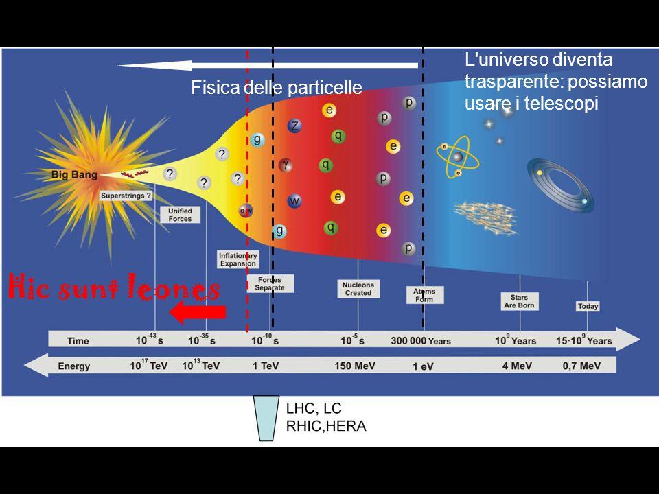 Hic sunt leones L'universo diventa trasparente: possiamo usare i telescopi Fisica delle particelle