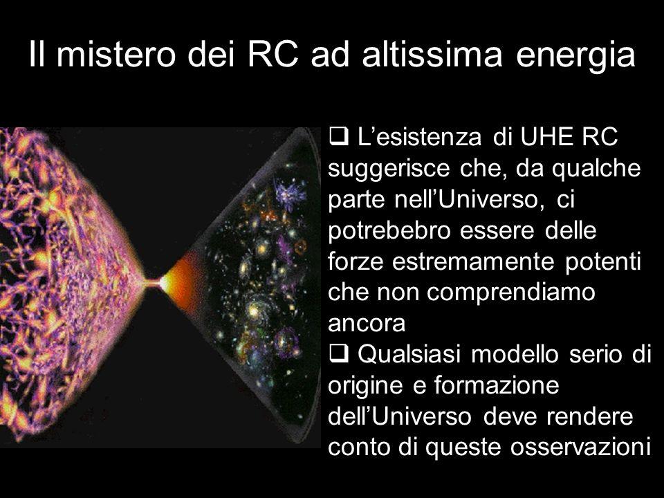 Lesistenza di UHE RC suggerisce che, da qualche parte nellUniverso, ci potrebebro essere delle forze estremamente potenti che non comprendiamo ancora