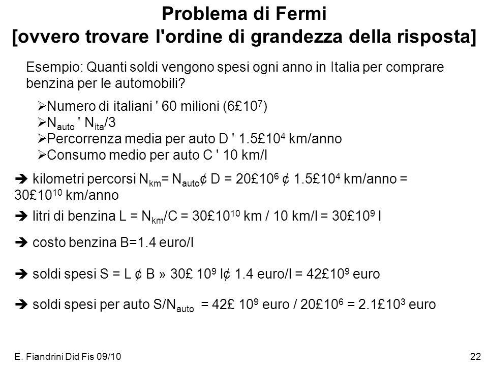 E. Fiandrini Did Fis 09/1023 Cifre significative