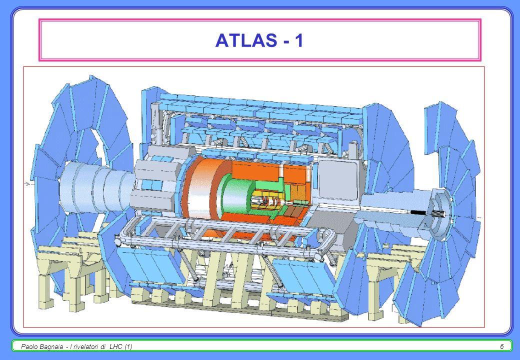 Paolo Bagnaia - I rivelatori di LHC (1)6 ATLAS - 1