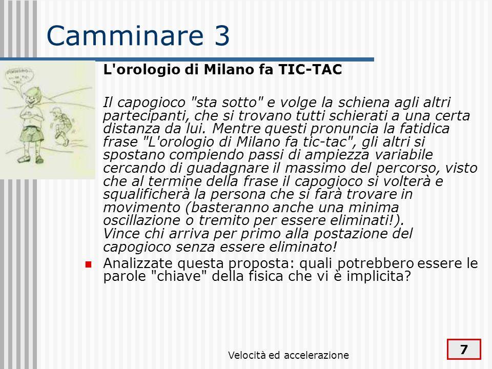 7 Camminare 3 L'orologio di Milano fa TIC-TAC Il capogioco