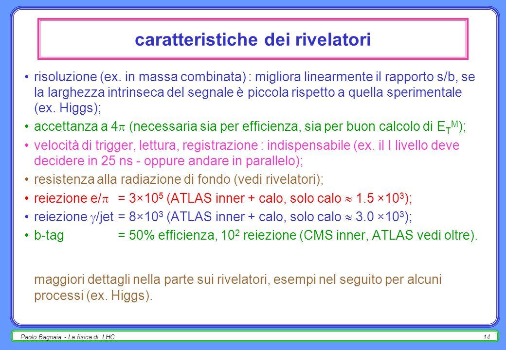 Paolo Bagnaia - La fisica di LHC13 approccio differente : inclusivi osservazioni : non- importante solo a p T < 5 GeV; /K principale processo a p T <
