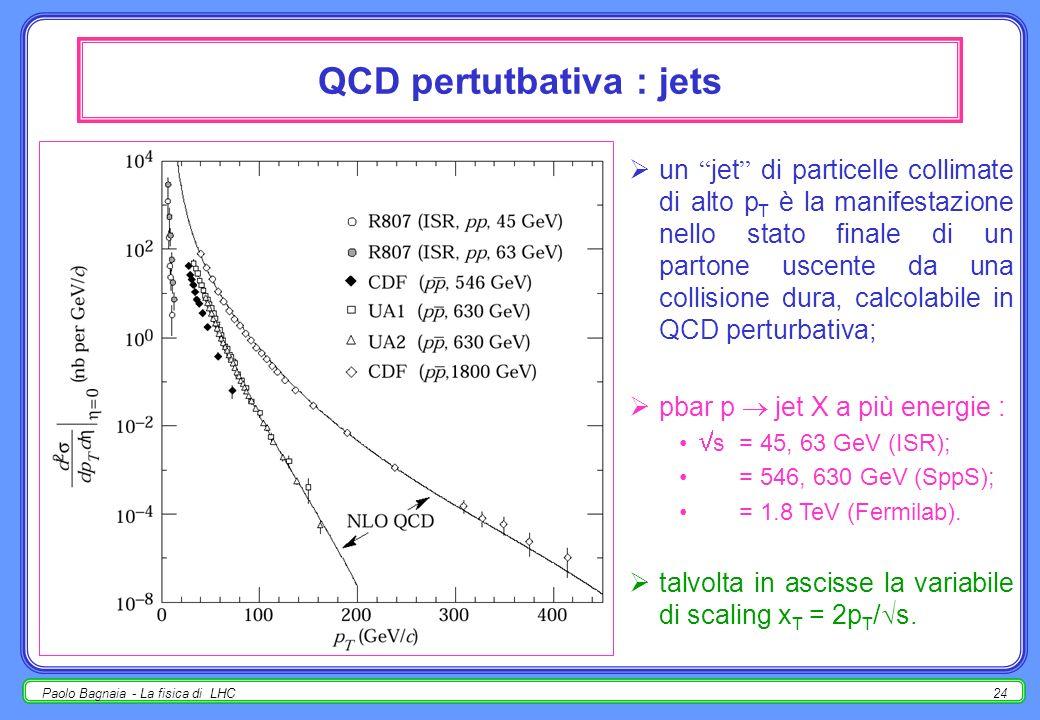 Paolo Bagnaia - La fisica di LHC23 QCD perturbativa LO : 8 processi a 4 partoni