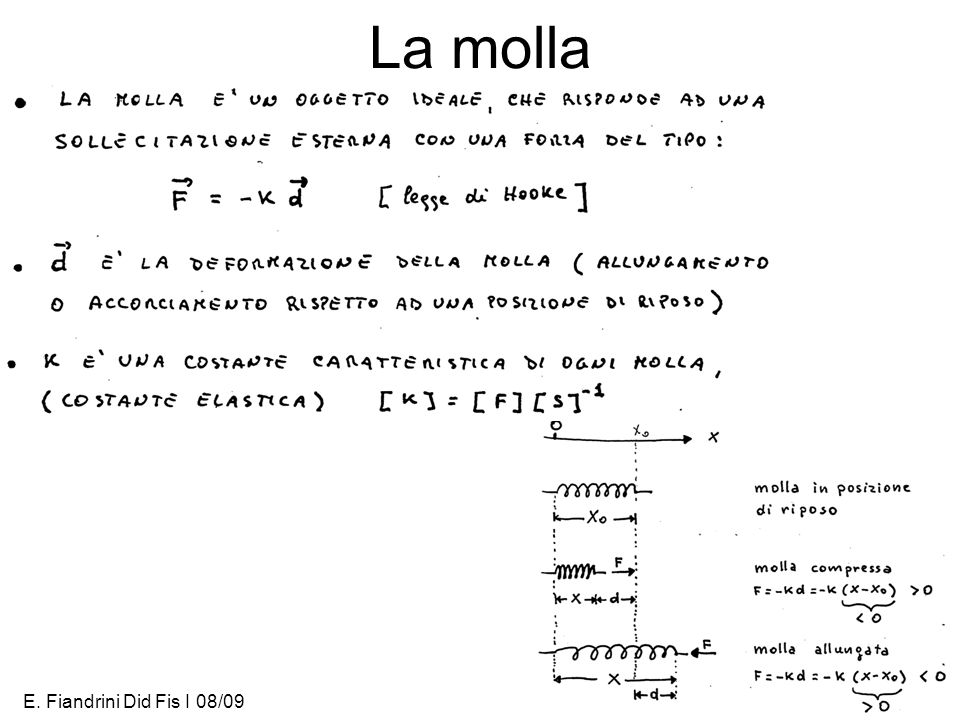 E. Fiandrini Did Fis I 08/093 La molla