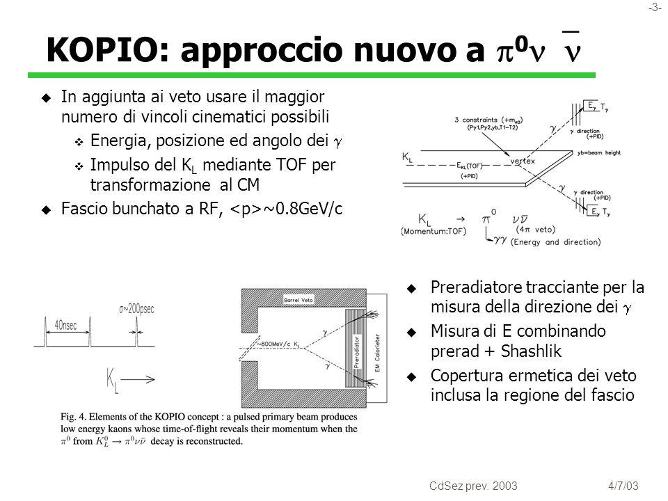 -4- CdSez prev. 20034/7/03 RSVP nella budget pipeline NSF