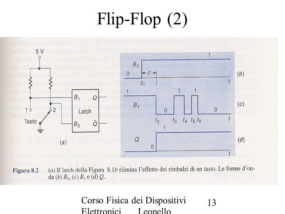 Corso Fisica dei Dispositivi Elettronici Leonello Servoli 13 Flip-Flop (2)