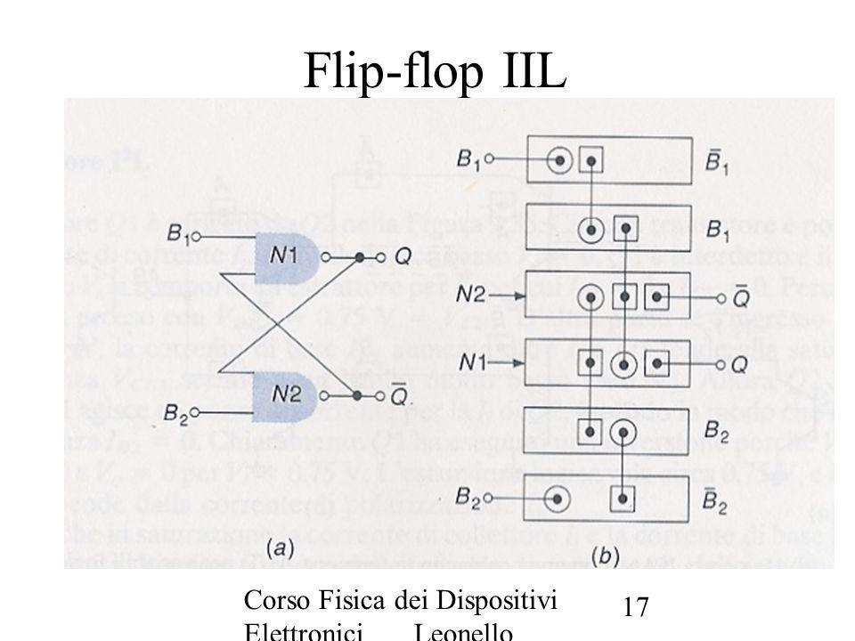 Corso Fisica dei Dispositivi Elettronici Leonello Servoli 17 Flip-flop IIL
