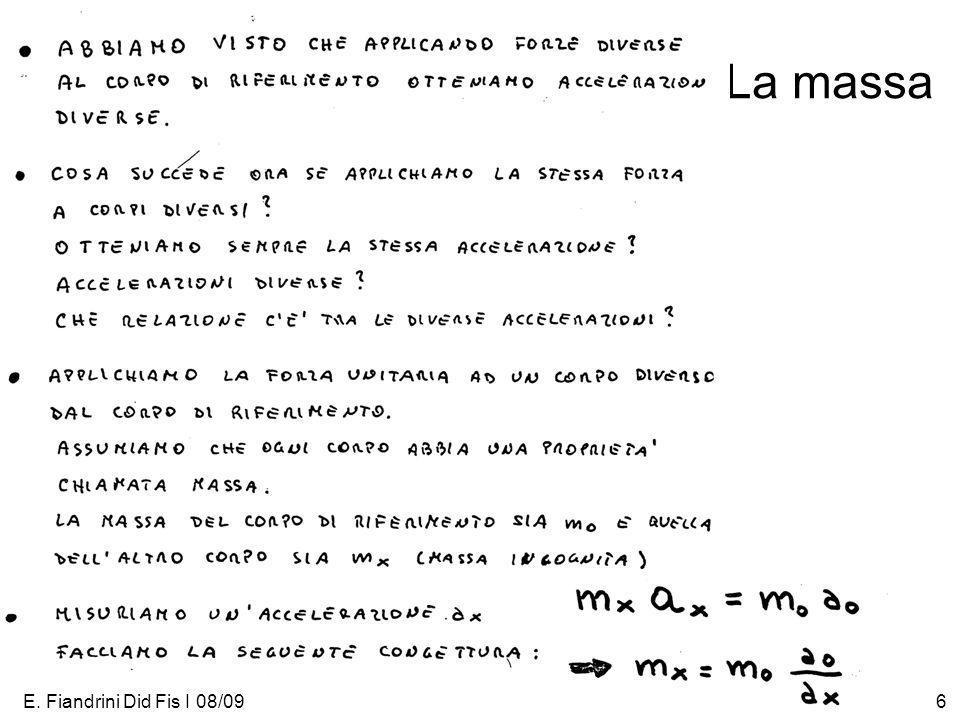 E. Fiandrini Did Fis I 08/096 La massa