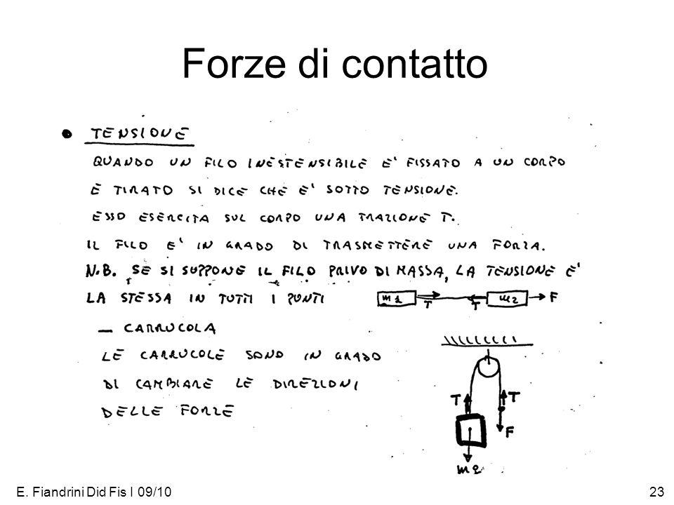 E. Fiandrini Did Fis I 09/1023 Forze di contatto