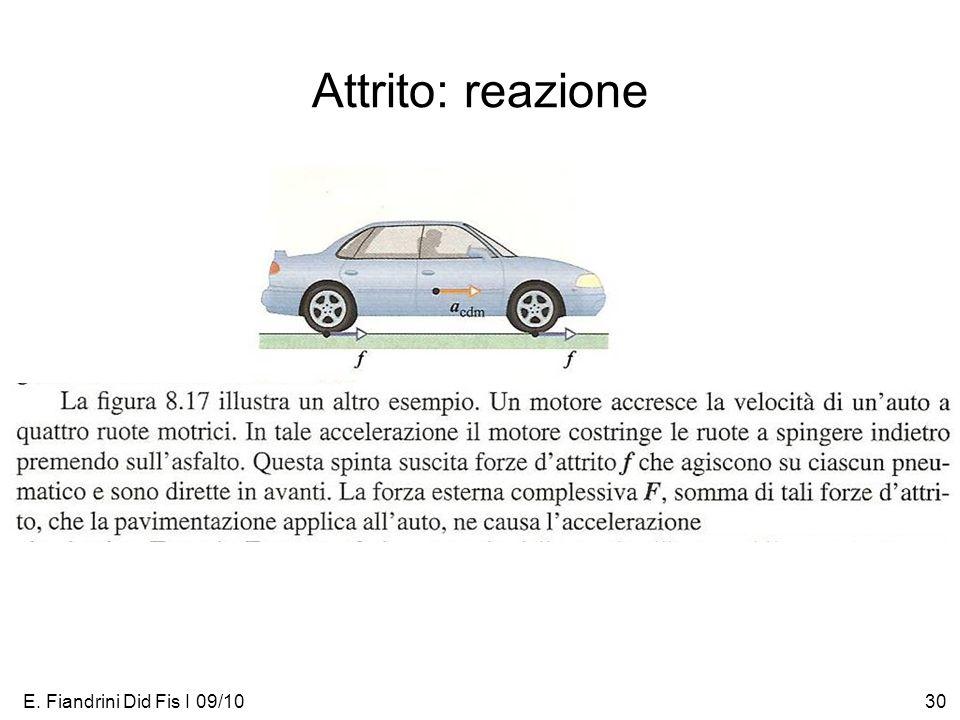 E. Fiandrini Did Fis I 09/1030 Attrito: reazione