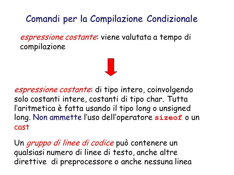 #if espr.cost.1 linee di codice 1 #elif espr. Cost.2 linee di codice 2...