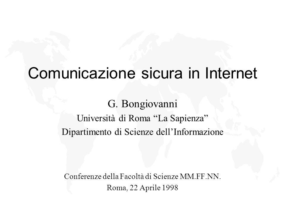 Comunicazione sicura in Internet G.